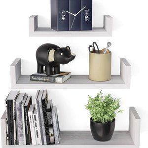 New Floating Wall Shelves- Set of Three